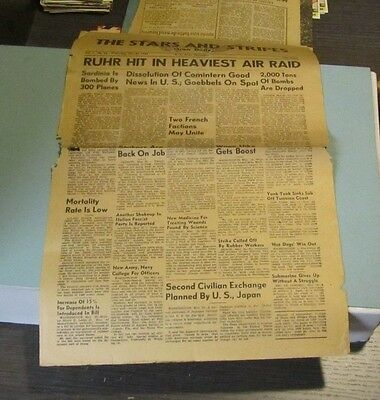 May 26 1943 The Stars and Stripes US Army Newspaper Oran Algeria WWII News