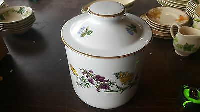 """Spode STAFFORD FLOWERS Large Canister 7"""" Tall Knob Lid"""
