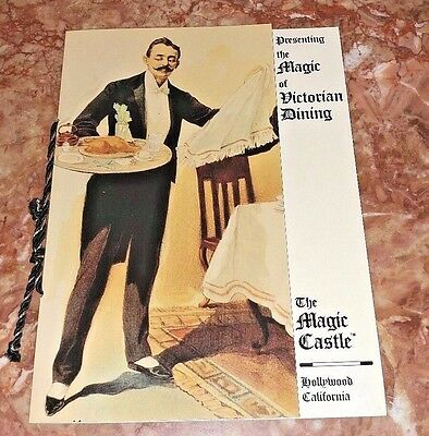 """The Magic Castle Hollywood  Victorian Menu The Academy of Magical Arts 11""""x 8"""""""