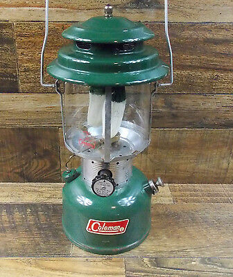 Vintage Coleman 220F Double Mantle Lantern Dated 8/71 Tested #2