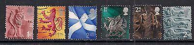 GB 1999 - 2002 QE2 1st & 2nd  6 x Various regional stamps. ( A156 )