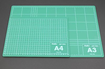 Helix A4 Or A3 Cutting Craft Mat. Self Healing, Non-Slip, 2 Sided, Printed Grid.