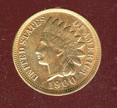 1900 INDIAN HEAD CENT PENNY high grade BU/UNC RED
