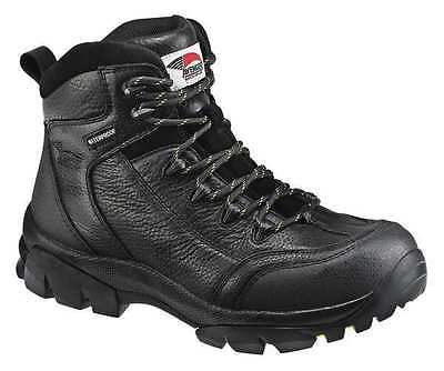 Size 8-1/2 Hiking Boots, Men's, Black, Composite Toe, M, Avenger Safety Footwear