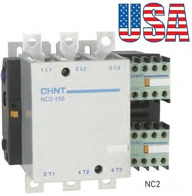 New Telemecanique Contactor LC1-F150 Replacement For Chint NC2-150 150A. 3P 220V