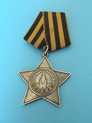 USSR Soviet Russian Military Order of Glory 3 class- WWII- LOW NUMBER !!!