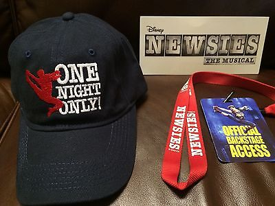 "Disney's Newsies ""ONE NIGHT ONLY!"" Commemorative Hat *BRAND NEW - NEVER WORN*"