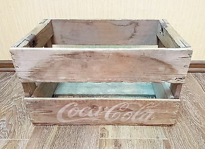 Vintage 1980s Original Coca Cola Wooden Crate Box Case Carrier