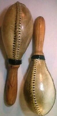 Maracas Leather SARDA TYPE Natural Color Painted Clear