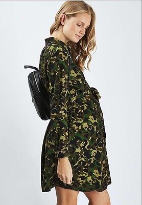 BNWT TOPSHOP MATERNITY CAMOUFLAGE SHIRT DRESS SIZE's 8,10,12,14