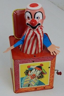 Vintage Matty Mattel Clown Jack in the Box 1961 No 659 TESTED & WORKING Toy Kids