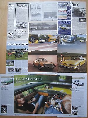 Triumph Stag Reports, Adverts & Cuttings