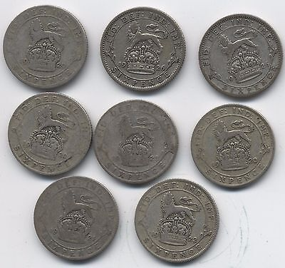George V Silver Sixpence Coins***Collectors***(G8)