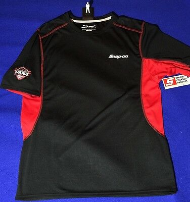 Snap On PERFORMANCE ELEMENT BODY SHIELD Shirt M MEDIUM Black Red Silver NEW