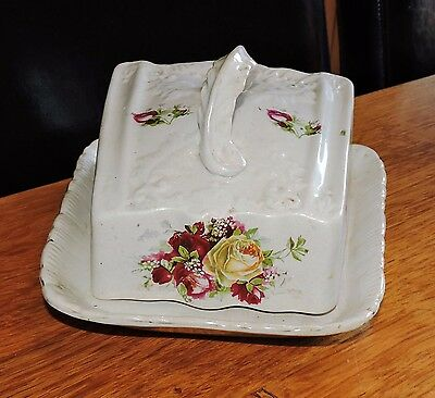 vintage cheese plate and cover