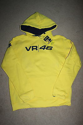 Official Valentino Rossi Yellow Hoodie Size XL - NEW WITH TAGS
