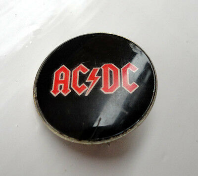 Vintage ACDC Prismatic crystal pin badge Heavy Rock 1980s AC/DC #2