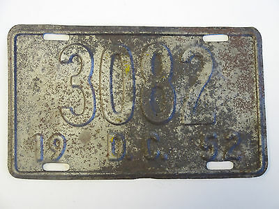 1952 District of Columbia license plate Vintage DC  Washington 52 #17
