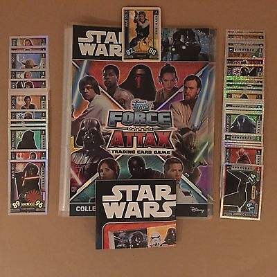 2017 Topps Star Wars Force Attax Universe Full set of 272 cards in binder