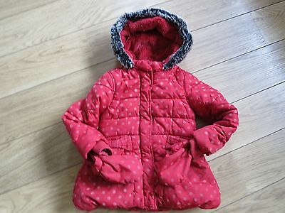 Girls' 4 to 5 years Marks and Spencer red coat