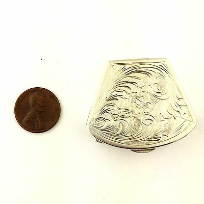 Antique/Vintage 800 Sterling Silver Snuff Box with Beautiful Detailing