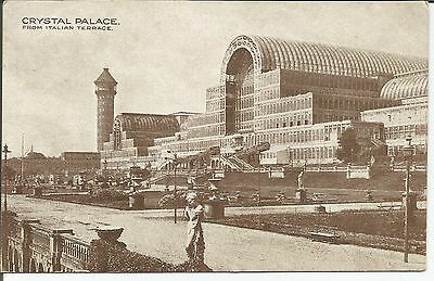 Postcard Crystal Palace from the Italian Terrace