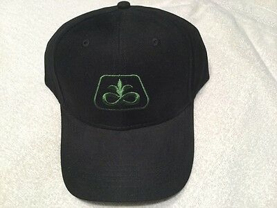 Pioneer Seed Corn soybean coal BLACK hat cap with Green logo Sharp