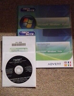 Windows Vista system recovery DVD for ADVENT PC/Laptop