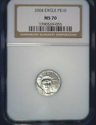 2004 $10 Platinum Eagle NGC MS 70