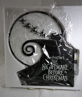 """The Nightmare Before Christmas Hanging Metal Sign """"Set Out To Slay"""""""