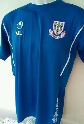 Rare player issue Ballymena United of Northern Ireland training shirt, M adult