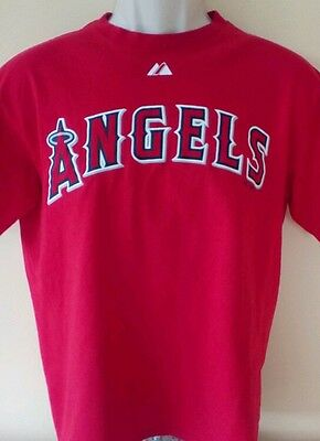 LA Angels baseball, red t-shirt, #47 Howie Kendrick, size M adults