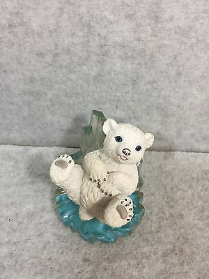 Slip'n & Slide'n Polar Bear Figurine Hamilton Collection 1996
