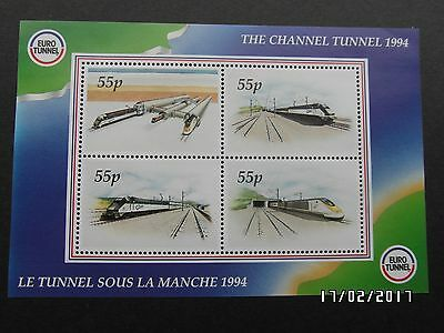 GB STAMPS - THE CHANNEL TUNNEL RAILWAY LETTER MS - 1984 - MNH - 99p START