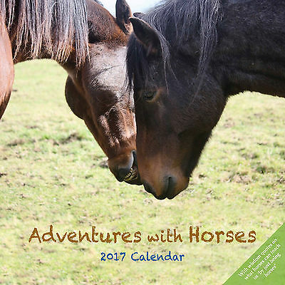 Adventures with Horses - 2017 Calendar, Month to View - Wall Chart/Planner