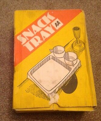 Vintage AA Snack Picnic Tray & Cups for Car - Boxed - Veteran Car Accessory