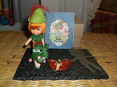 Mattel Liddle Kiddle Peter Paniddle Doll Set Croc Tinkerbell Shadow & Booklet