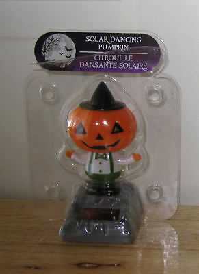 One Solar Dancing Pumkin - Works with Sunlight or Artificial Light