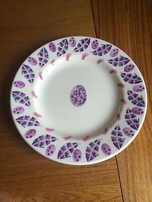 """Pink Egg And Feather Emma Bridgewater Collector 8"""" Plate"""