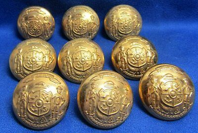 Spanish American War Michigan National Guard Buttons Lot Of 9 by American Button