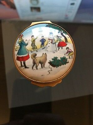 Bilston And Battersea Enamel Vintage Christmas 1979 Box