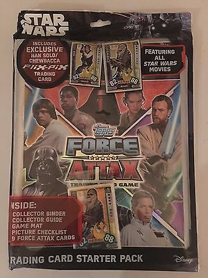 2017 Topps Star Wars Force Attax Universe Collectors Starter pack + 60 cards!!