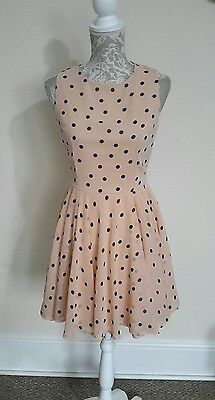 LADIES VINTAGE STYLE 50s ROCKABILLY DRESS SIZE 12