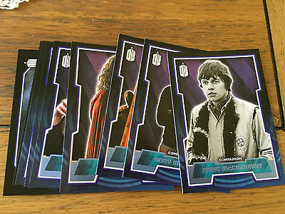 Doctor Who 2015 by Topps Lot of 9 Blue Parallel Cards Numbered xxx/199