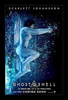 GHOST IN THE SHELL  framed movie poster 11x17 Quality Wood Frame