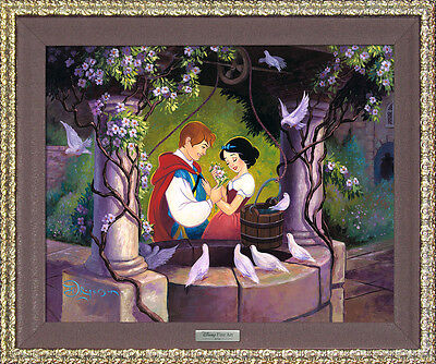 "Disney Snow White ""The Wishing Well"" by Tim Rogerson  FRM/COA Print"