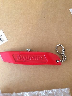 NEW SUPREME BOXCUTTER Red BOX LOGO ACCESSORY CDG  DECK UTILITY KNIFE KEYCHAIN