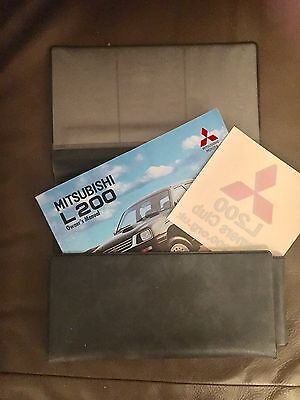Mitsubishi L200 Wallet Owners Manual & Window Sticker Fantastic Condition