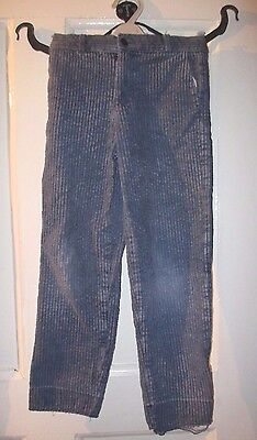 Boys   vintage  blue corduroy  cord  Trousers Approx  Age 7-8 ~ 30 inch