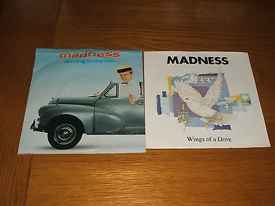 """2 x Madness - Driving In My Car - Wings Of A Dove - (1982+83) 7"""" Single - Vinyl"""